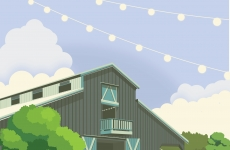 Illustration + Logo: Queens Chestnut Barn